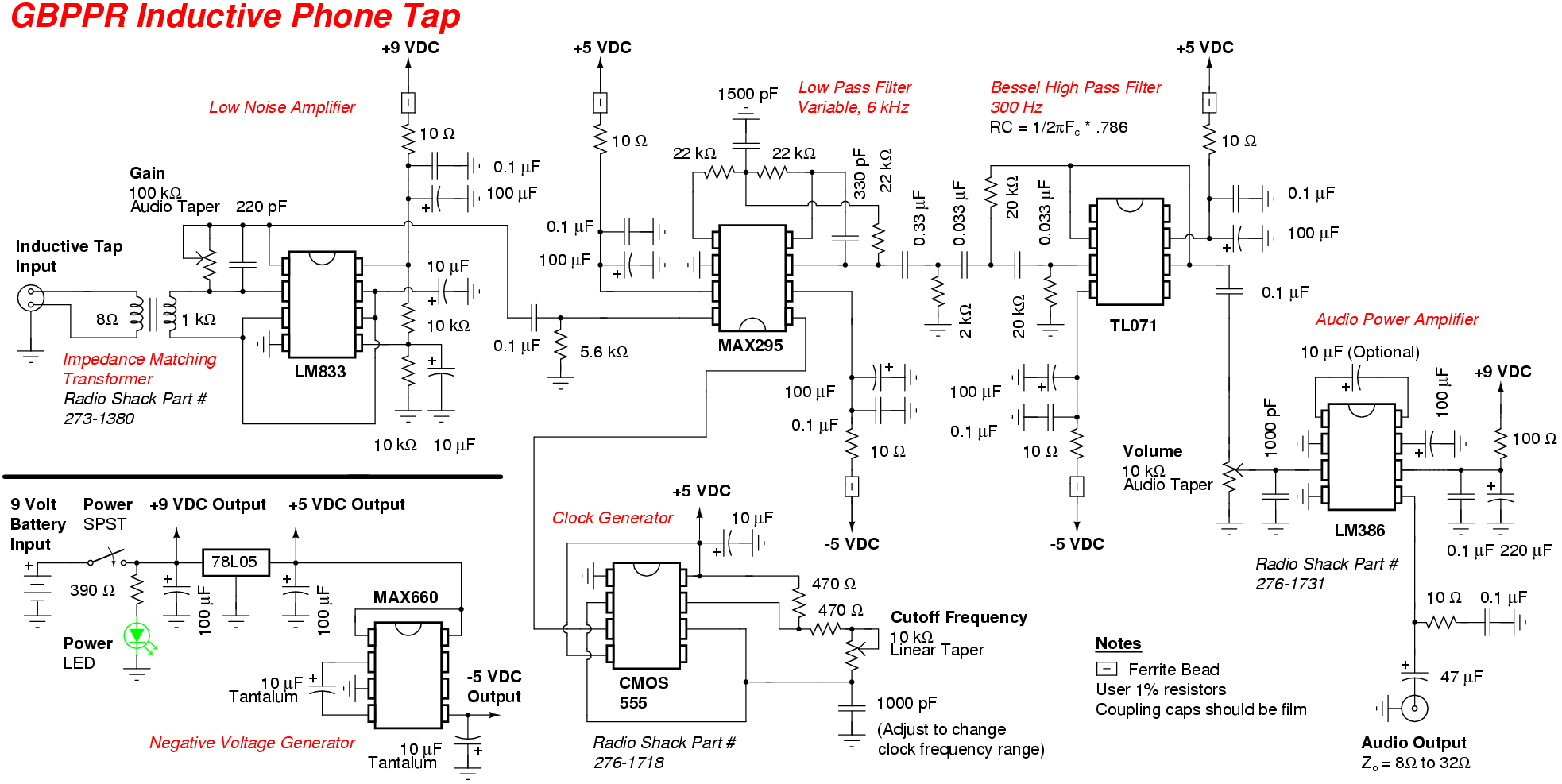 Gbppr Telephone Induction Tap Electronic Metal Detector Schematic Circuit Diagram