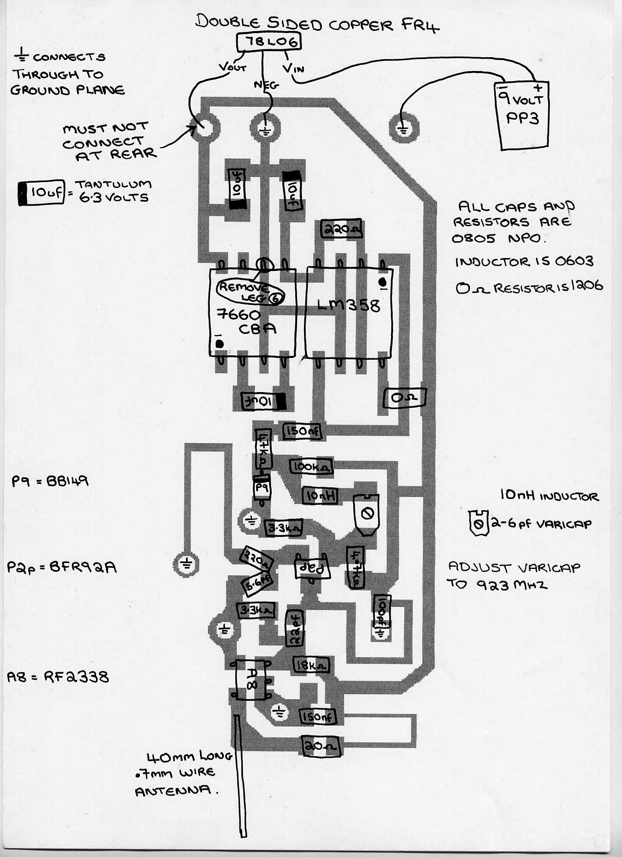 Gbppr Cellular Phone Jammers Fm Circuit Page 2 Rf Circuits Nextgr Schematic Diagram For A Homebrew P2jbz Style Jammer