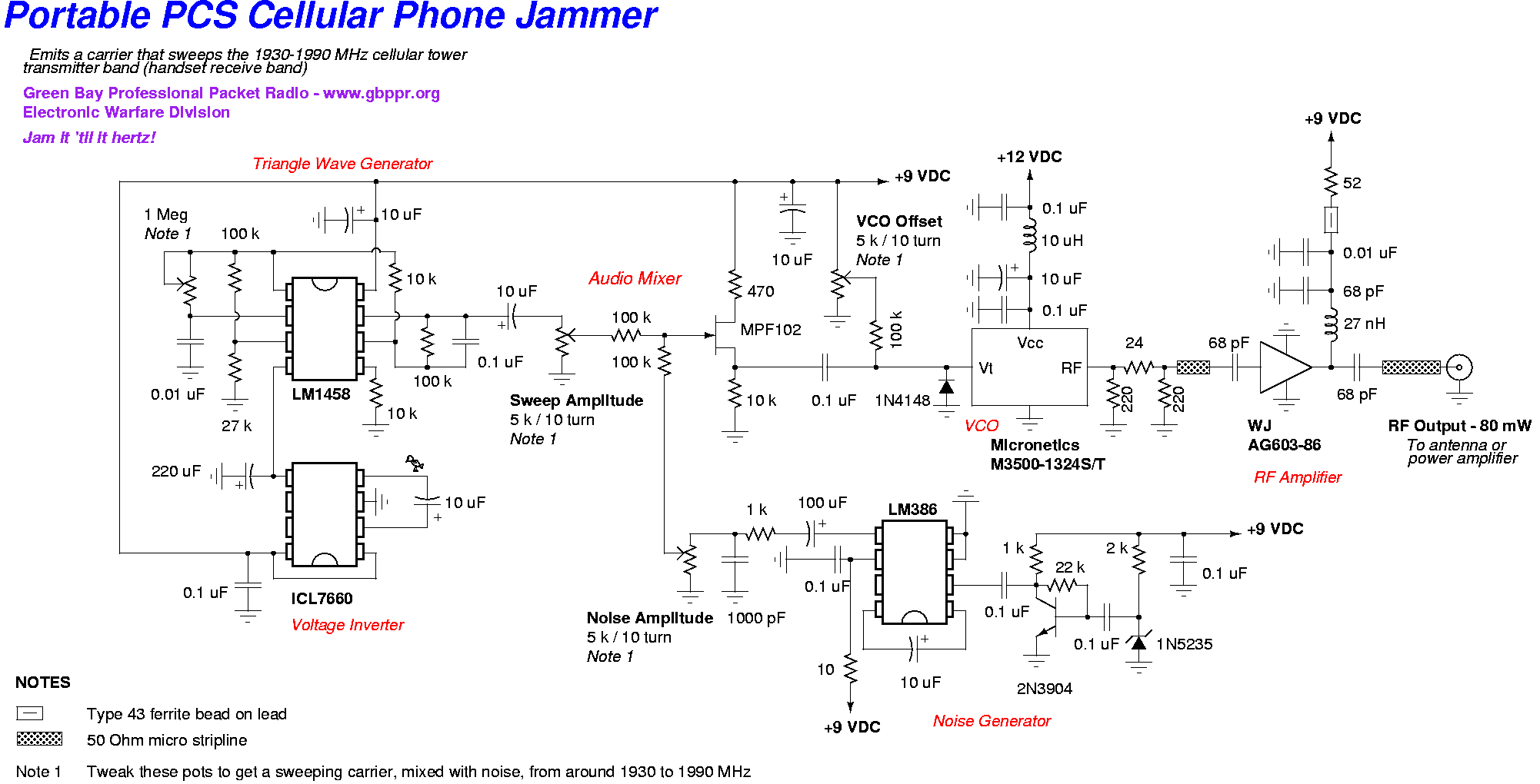 Directory Listing Of Texts Government Information Circuit Diagram Metal Detector Project Pcs Jammer New