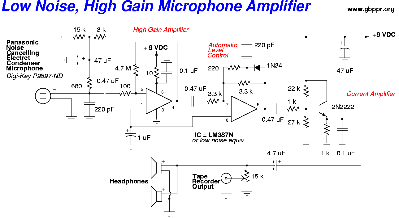 Op Amp Sample Circuit Not Lossing Wiring Diagram Differential Amplifier With Low Noise High Gain Microphone Operational Examples Simple