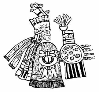 Aztec gods and goddesses for Aztec gods coloring pages